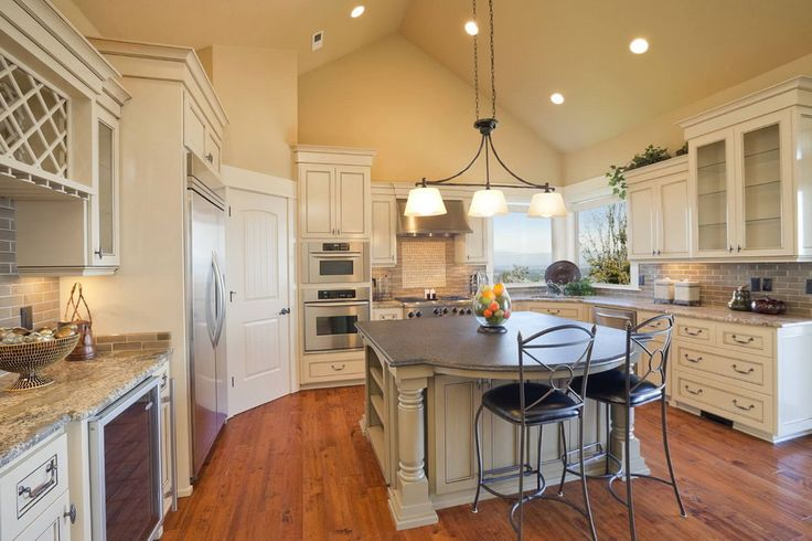 1000 ideas about vaulted ceiling lighting on pinterest for Vaulted ceiling kitchen ideas
