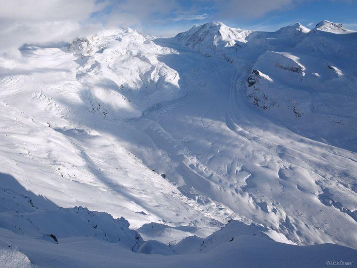 Gornergletscher, MonteRosa, glacier, Gornergrat, Zermatt, Switzerland, photo