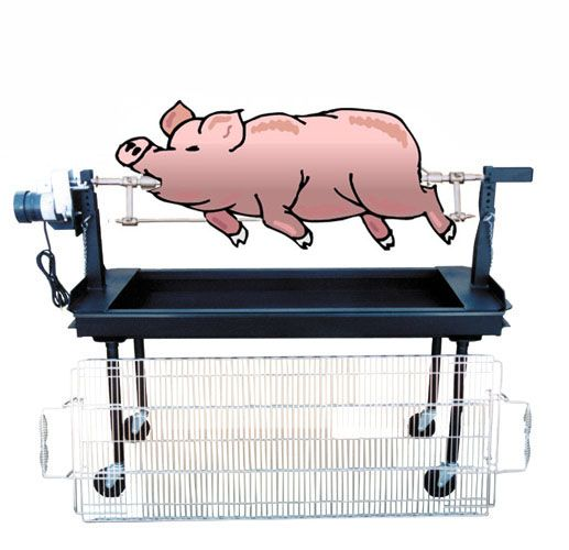 how to build a whole pig rotisserie