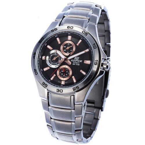 Casio Men's Edifice EF335D-1A4V Silver Stainless-Steel Quartz Watch with Black Dial Casio. $65.99. Save 49%!