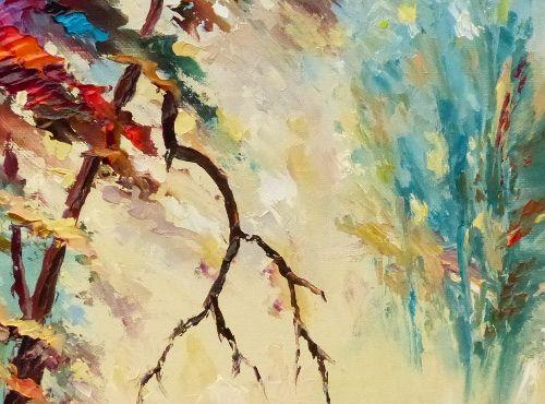 paysage forestier à l'aspect mystérieux et vaporeux en automne