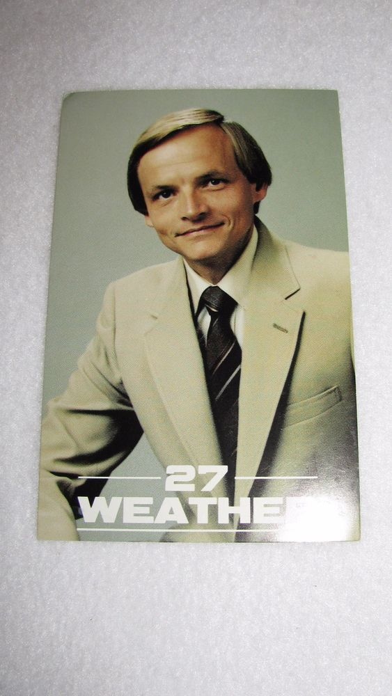 HARRISBURG PA WHTM ABC 27 NEWS WEATHER CHUCK RHODES WEATHERMAN POSTCARD VINTAGE
