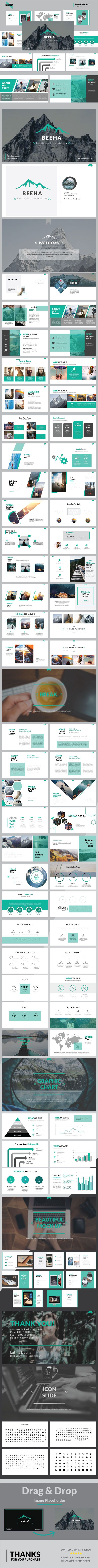 Beeha Multipurpose Presentation Templates - #Business #PowerPoint #Templates Download here: https://graphicriver.net/item/beeha-multipurpose-presentation-templates/19503878?ref=alena994