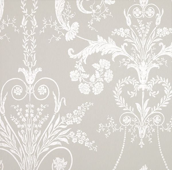 Josette White/Dove Grey from the Laura Ashley wallpaper collection.