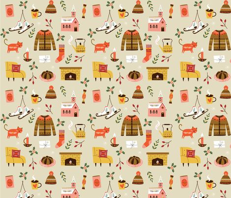 hygge cozy and calm fabric by szonjakiss on Spoonflower - custom fabric
