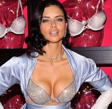 Adriana Lima revealing the 2 million dollar bombshell fantasy bra