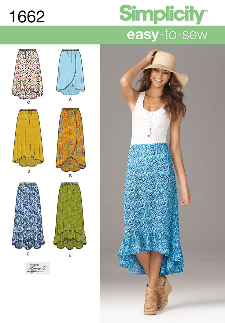 Linen, shorter style, ruffle all around hem into waist? tie wrap skirt? or eye hook closure?  Simplicity Creative Group - Misses' Easy to Sew Skirts