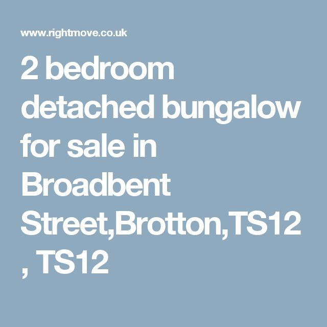 2 bedroom detached bungalow for sale in Broadbent Street,Brotton,TS12, TS12