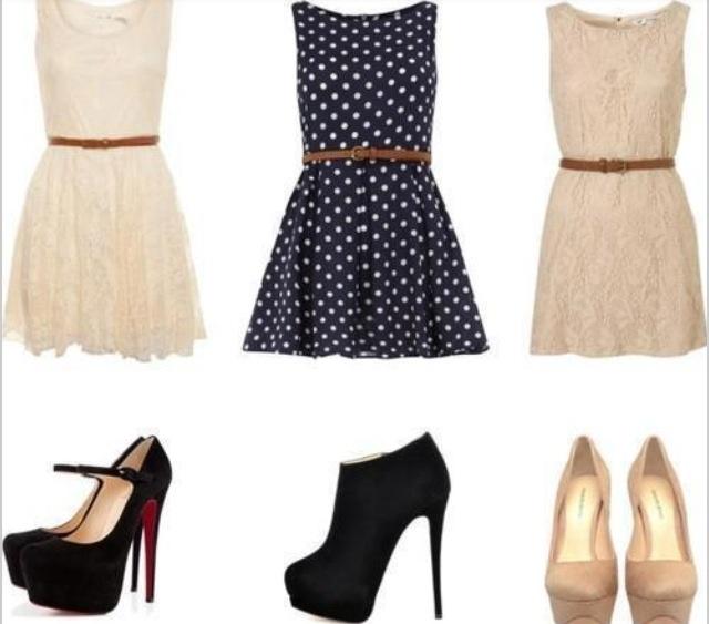 Diana, zapatos y vestidos....