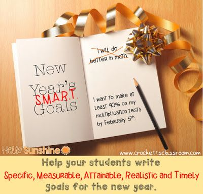 Help your students write S.M.A.R.T. goals for the new year.