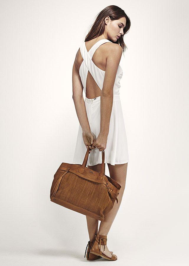 Robe blanche dos nu IKKS - Sac en cuir femme