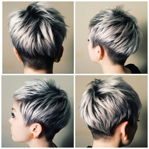 Way cooler than frosted tips ;) I love this!   cuts and dos   Hair styles, Short hair cuts for ...