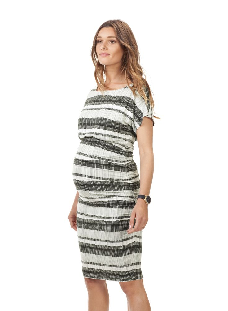 Larch Maternity Print Dress in Multi | Isabella Oliver UK £119