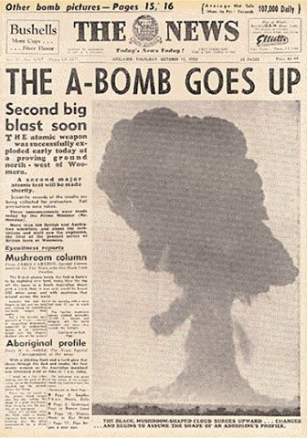 I grew up always being afraid of the A bomb