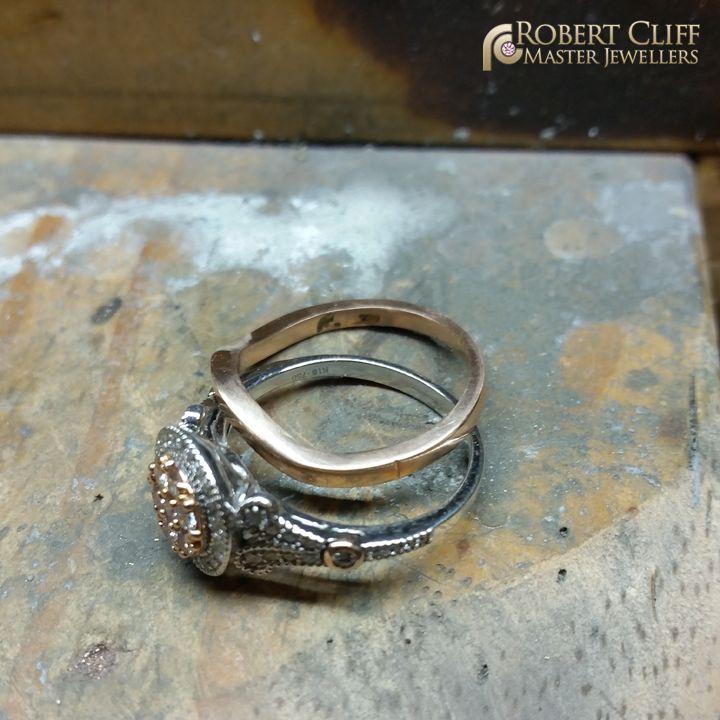 A custom fit wedding #ring in the making! --- #workshop #jewellers #sydney #behindthescenes #weddingring #bride #forher #wedding #bts #jewellery #bridal #jewellery #bridetobe #bling #blingbling #jeweller #designer #masterjeweller #castletowers #jewellerydesigner #jewellerydesign #design #igersaustralia #igerssydney #KingsOfBling #australia