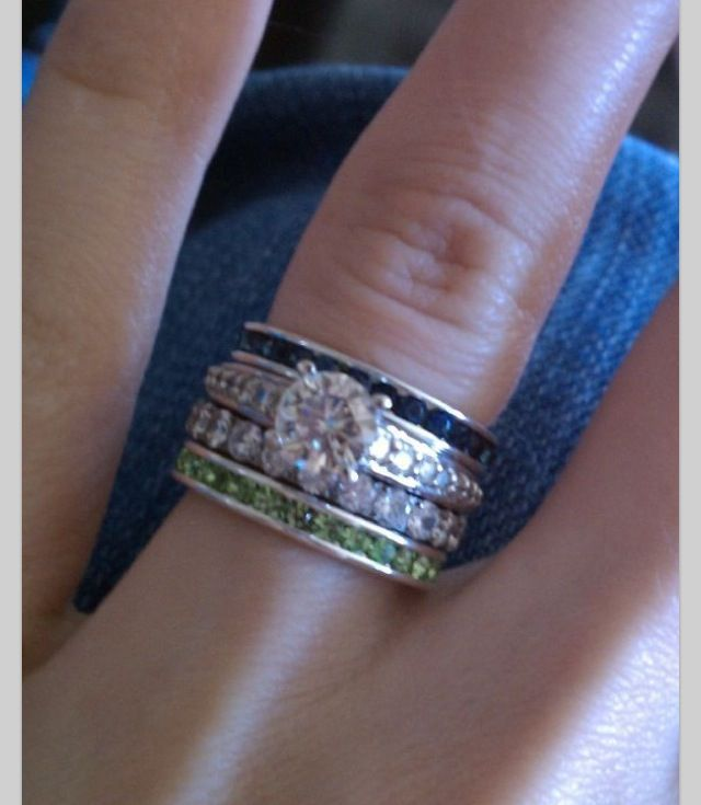 1000 Ideas About Stackable Birthstone Rings On Pinterest