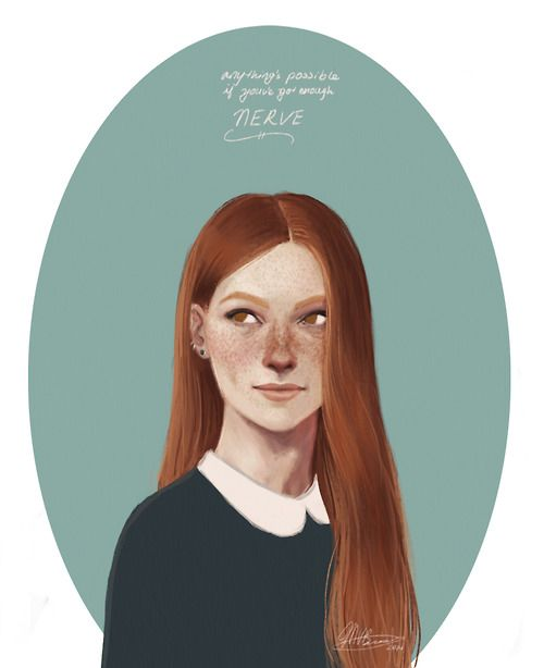 ginny weasley by tumblr user aqvarelles