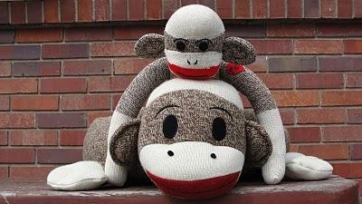 Mamma and Baby sock monkey