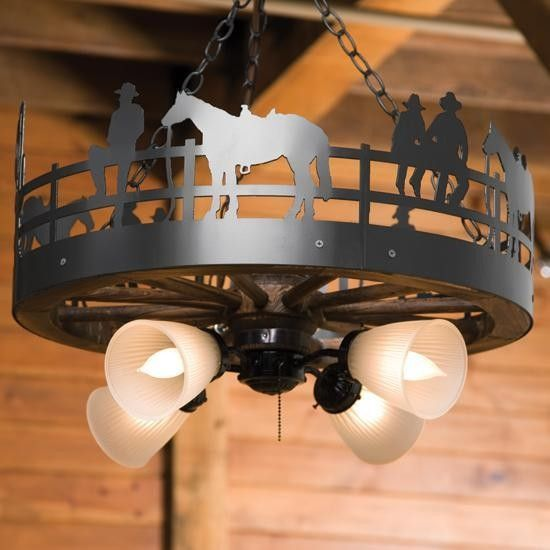 97 best western lighting images on pinterest chandeliers cowboy and fence wagon wheel chandelier aloadofball Gallery