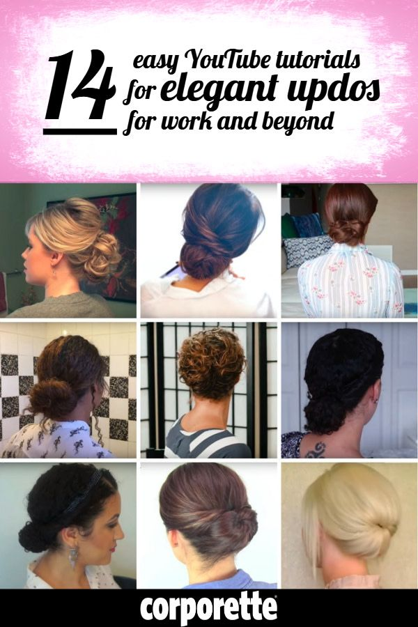 14 Great Youtube Tutorials For Updos Corporette Com Work Updo Easy Hairstyles Hair Styles