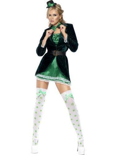 Adult Sexy Irish Green St Patricks Day / Leprechaun Ladies Fancy Dress Costume (30463) |