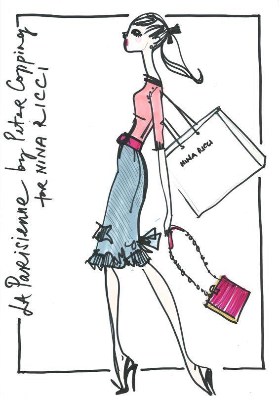 Les 10 meilleures images du tableau figurine de mode sur - Dessin parisienne ...