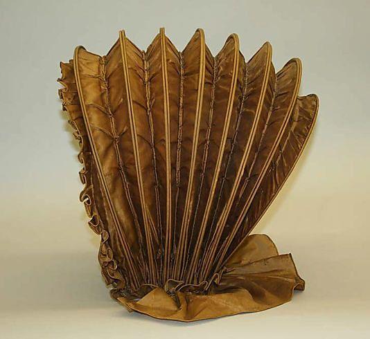 Calash 1775, American, Made of silk