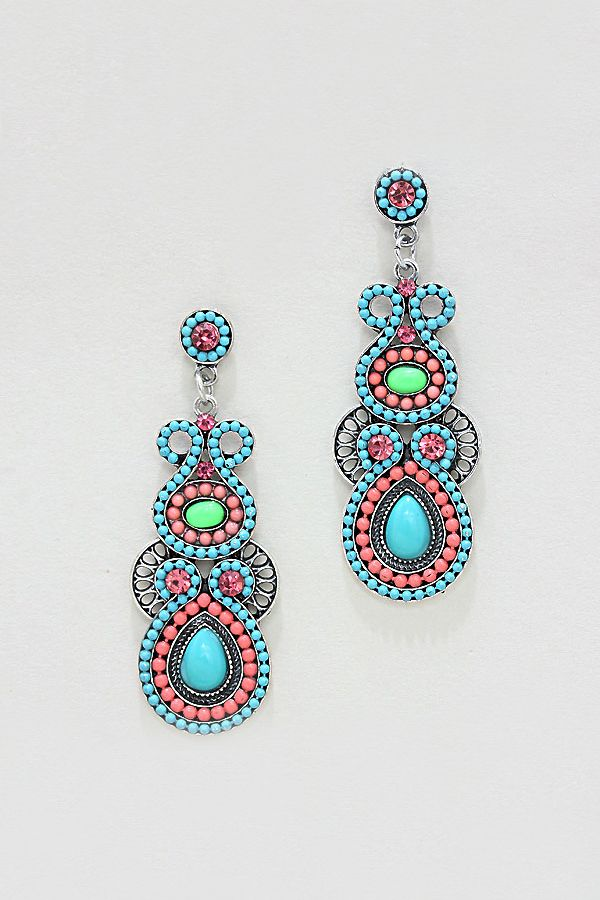 Athena Earrings in Greek Turquoise