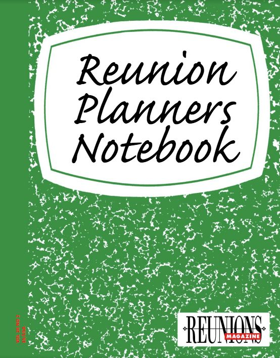 Reunion Planners Notebook is your personal guide to achieve your reunion goals. Click the notebook to take advantage of direct connections and links to our multimedia reunion planning resources! As you peruse pages, simply click on buttons for direct links to corresponding material and podcasts.   Also see our short video explaining Reunion Planners Notebook: https://www.youtube.com/watch?v=9uEAN9MBcJE