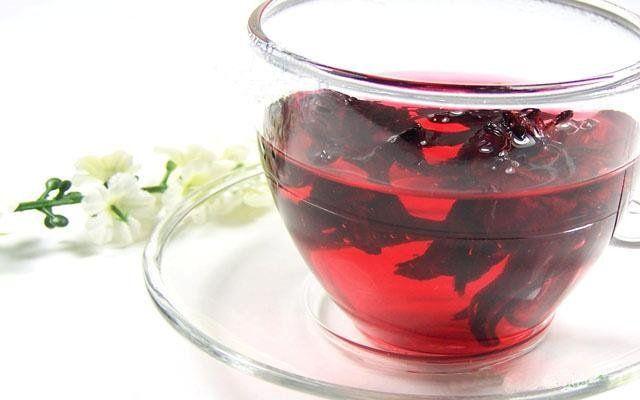 Best Hibiscus Tea. Purple with milk. Good for mushroom tea party
