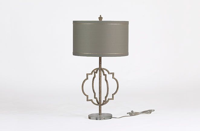 Charlotte Transitional Lamp - #quatrefoil shape with antique #gold #lamp #transitional   Gabby