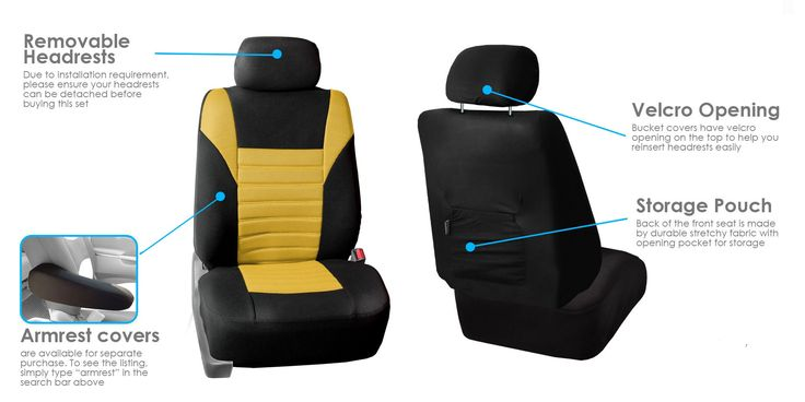Premium 3D Air mesh Design Airbag and Rear Split Bench Compatible FH Group FB068BEIGE115 Beige Universal Car Seat Cover