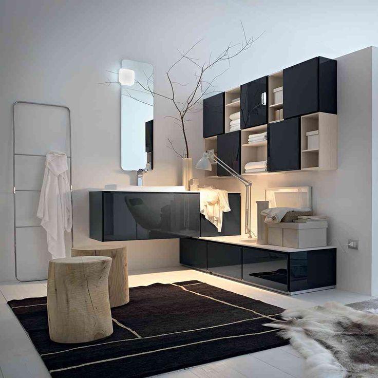 El cuarto de baño de diseño Suede Cerasa se adapta a cualquier entorno gracias a su modularidad y accesorios y es capaz de mezclarse con los más diversos estilos de la vivienda, de la informalidad de los países nórdicos, a la Africa más étnico, a través de el cosmopolita de los EE.UU.