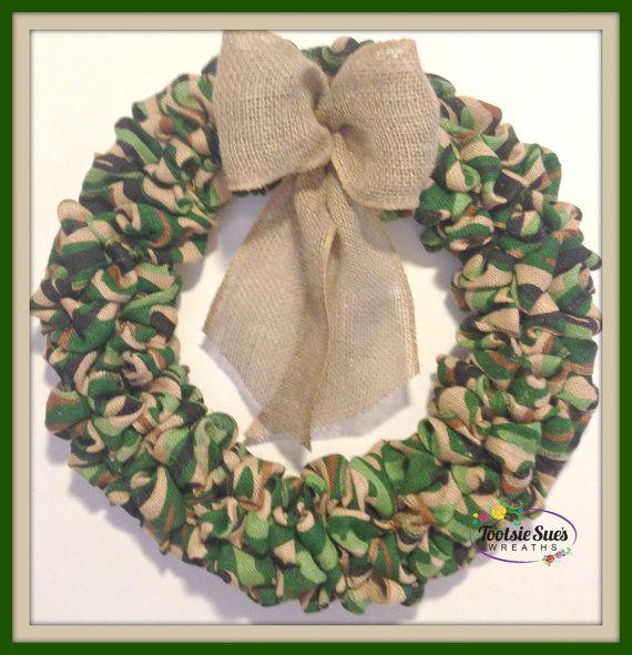 Camouflage WreathSport Wreath Hunting Wreath by TootsieSuesWreaths