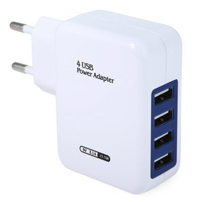 Home Wall Power Supply Adapter Charger  -  EU PLUG  WHITE - $4.03