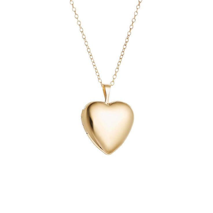 Wear pictures of your loved ones close to your heart with this Petite Heart Gold Filled Locket Necklace. The heart is engravable on both sides!