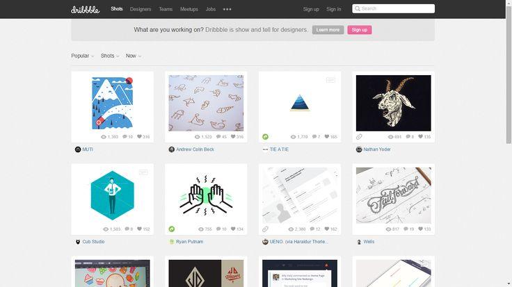 Dribble.com es una página web donde los diseñadores de distintas plataformas tecnológicas suben sus trabajos y ofrecen sus servicios.