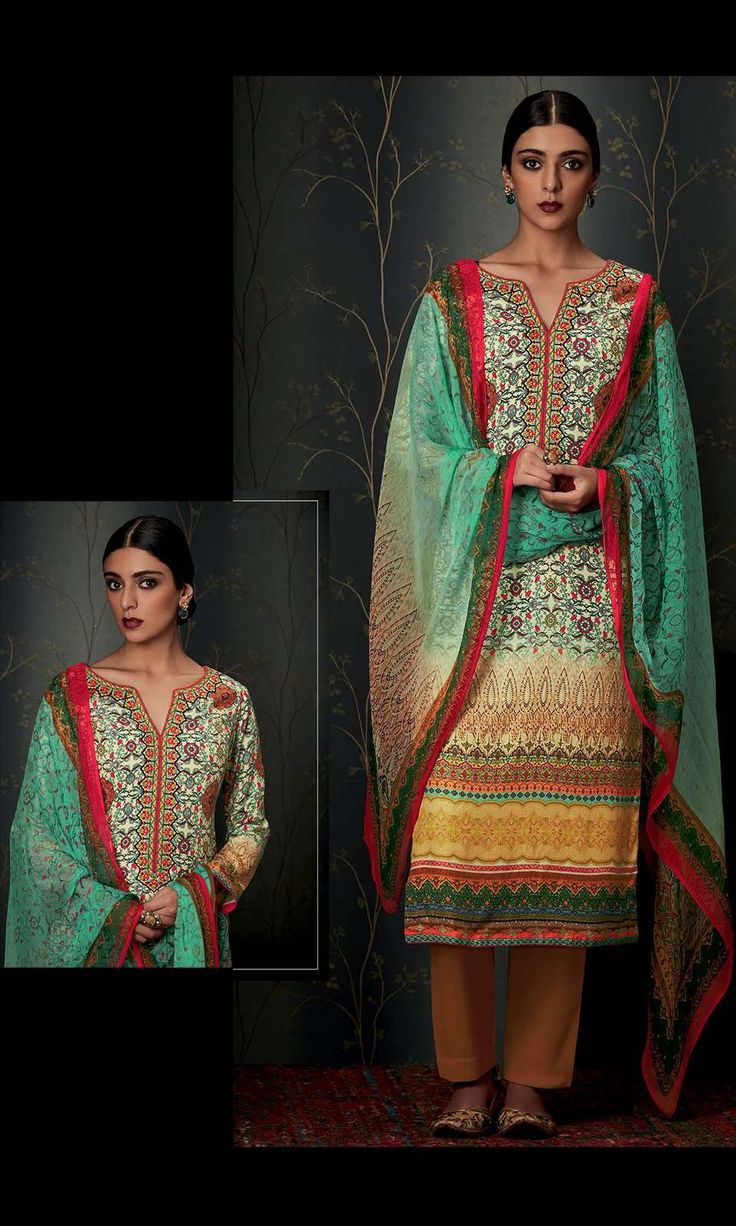 Buy online Churidaar Beige Pashmina Straight Cut Suit (SKU Code : SUEJDSKIM6802) at Ishimaya Fashion.