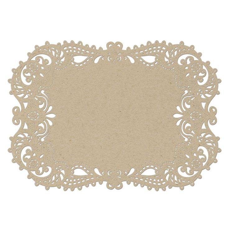 Lace Like Laser-Cut Filigree Wedding Placemat