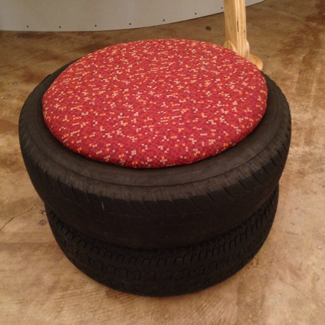 Tire chair tire art pinterest for How to make tire furniture