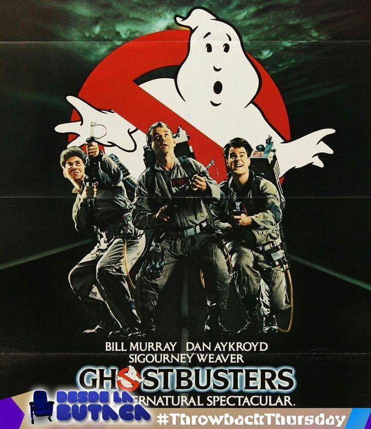Hoy nuestro #TBT se lo dedicamos a los #ghostbusters!  Ghostbusters en españolLos cazafantasmas es una películaestadounidensede 1984 del géneroterrorfantástica con algunos toques deciencia ficción producida y dirigida porIvan Reitman protagonizada porBill MurrayDan AykroydSigourney WeaverHarold RamisRick MoranisAnnie Potts William Atherton yErnie Hudson. La película fue un éxito de taquilla y se registró como la comedia más taquillera de la década. Su banda sonora fue compuesta porElmer…