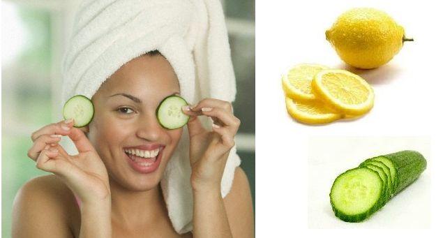 Masque pour les cernes avec concombre et jus de citron | Meilleure Masque Visage Maison  http://www.masquesvisagemaison.com/masque-pour-cernes-avec-concombre-citron/