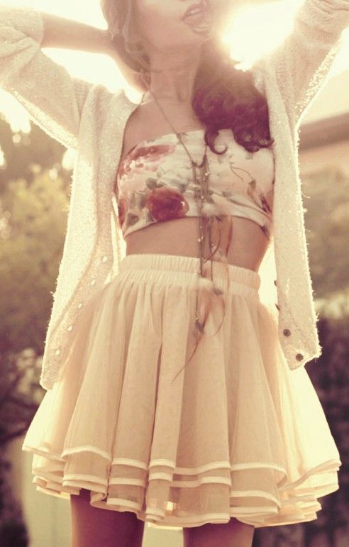 Bandeau top & tutu skirt - super cute www.studentrate.c... streetstyle fashion style