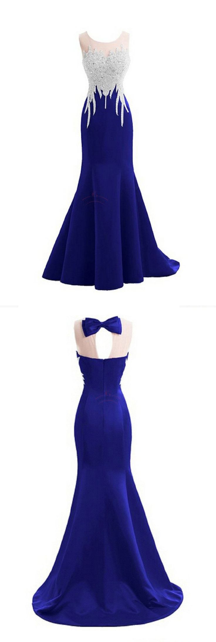 Sparkly Crystal Prom Dresses,Mermaid Prom Dresses,Sexy Backless Prom Dresses,Sleeveless Prom Dresses,Long Prom Dresses - 2016