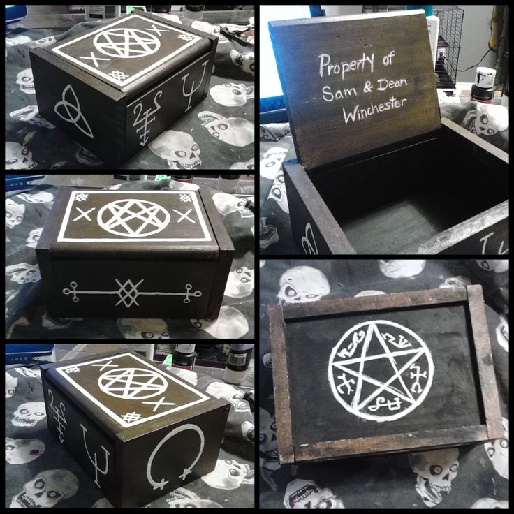 Supernatural curse box -designed by Monteyroo- i bloody need this