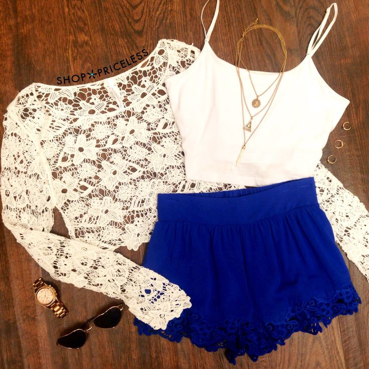I don't wear crop tops and short shorts but this looks nice.