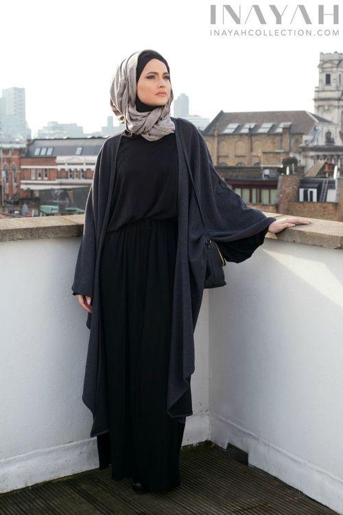 ABAYA hijab fashion winter WOMENS FASHION :  NIQAB ,نِقاب , ABAYA , عباية ,عباءةʿ عبايات ʿعباءاتʿ , ABA , HIJAB , حجاب More Pins Like This At FOSTERGINGER @ Pinterest