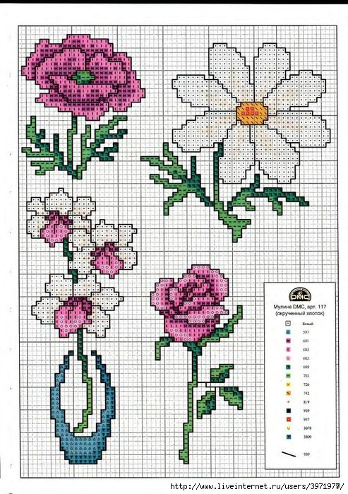 17 best images about cross stitch on pinterest patrones - Broderie point de croix grilles gratuites fleurs ...