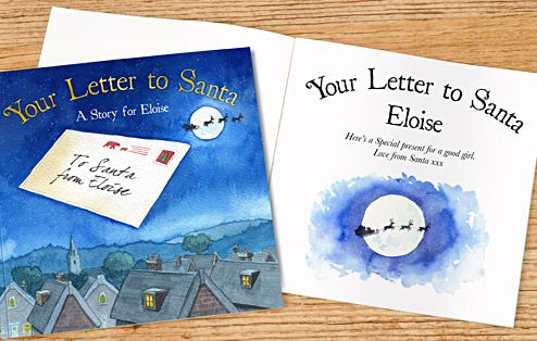 Your Letter to Santa Personalised Book | Christmas Gifts