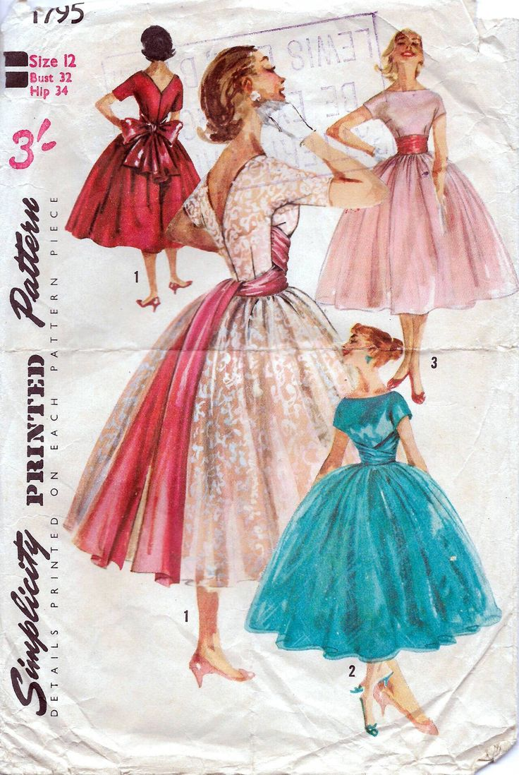 117 best vintage simplicity patterns images on pinterest vintage 50s simplicity sewing pattern 1795 dress sewing pattern bust 32 inches jeuxipadfo Choice Image